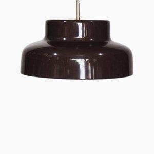 Lámpara colgante Mid-Century de metal marrón