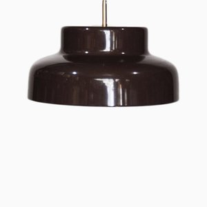 Mid-Century Brown Metal Pendant Light