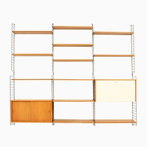Wall Unit by Kajsa and Nisse Strinning for String Design AB, 1950s