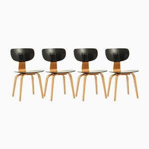 Model SB02 Dining Chairs by Cees Braakman for Pastoe, 1950s, Set of 4