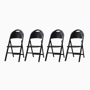Tric Folding Chairs by Castiglioni Brothers for BBB emmeBonacina, 1960s, Set of 4