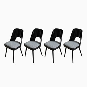 Black & White Dining Chairs from Tatra, Set of 4