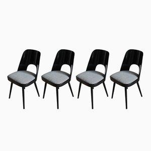 Esszimmerstühle in Schwarz & Weiß von Tatra, 4er Set