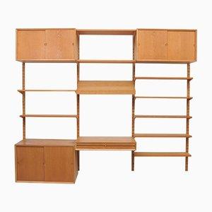 Vintage Eichenholz Wandregal mit Schreibtisch von Paul Cadovius für Cado