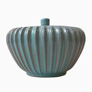 Dänisches geriffelte Keramik Gefäß von Esben & Lauge für Eslau, 1950er