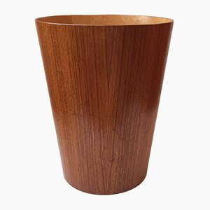 Teak Waste Paper Basket by Martin Åberg for Servex, 1950s