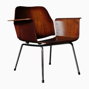 Vintage Walnut Ply Chair by Saburo Inui for Tendo Mokko