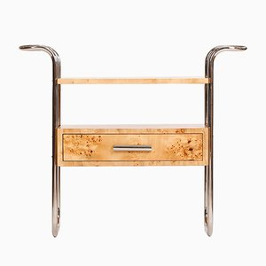 Mid-Century Birch Veneered Console Table, 1950s