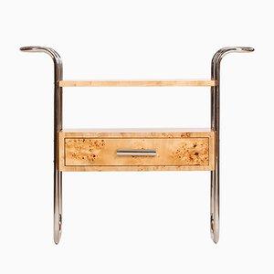Mid-Century Birch Veneered Console Table, 1950s