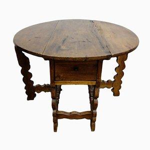 Antike italienischer Nussholztisch, 15. Jh.
