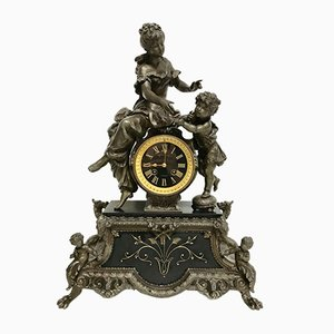 Antique French Table Clock by Verna Zobres