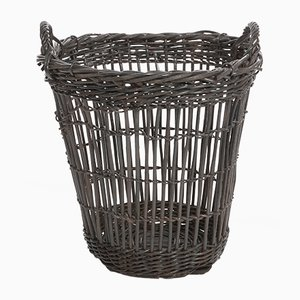 French Anthracite Laundry Basket, 1940s