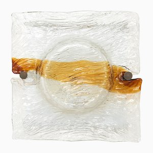 Große Murano Glas Wandlampe von Toni Zuccheri für Venini, 1960er