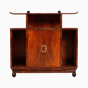 Art Deco Burl Walnut Cabinet by Osvaldo Borsani