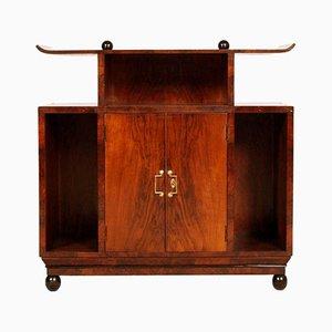 Mueble Art Déco de madera nudosa de nogal de Osvaldo Borsani