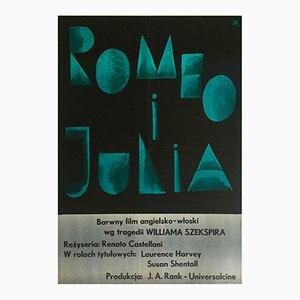 Affiche Roméo et Juliette par Julian Pałka pour CWF, Pologne, 1961