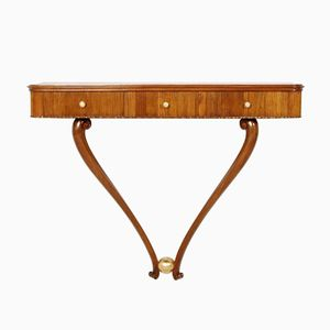 Vintage Console Table with 3 Drawers by Osvaldo Borsani, 1940s