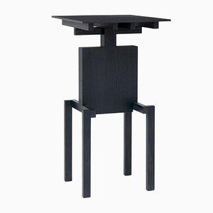 Table d'Appoint Covered Identity en Frêne Noir par Studio Pascal Howe