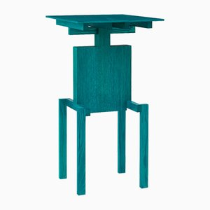 Covered Identity Turquoise Ash Side Table by Studio Pascal Howe