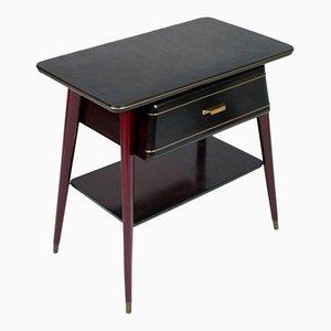 Mahagoni Konsolentisch mit Schublade, 1950er
