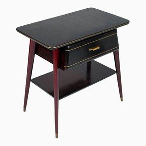 Mahogany Console with Drawer, 1950s