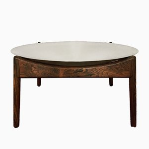 Table Basse Modus en Palissandre avec Bol en Aluminium par Kristian Solmer Vedel pour Søren Willadsen, 1960s