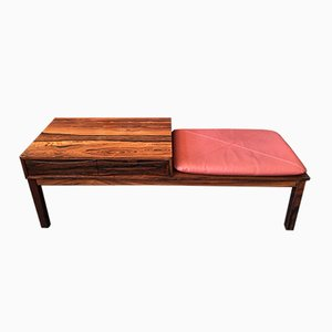 Danish Rosewood Bench with Drawers by Arne Vodder, 1960s