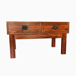 Danish Rosewood Low Side Table with Drawers, 1960s