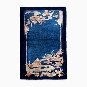 Antiker handgeknüpfter chinesischer Art Deco Teppich, 1920er