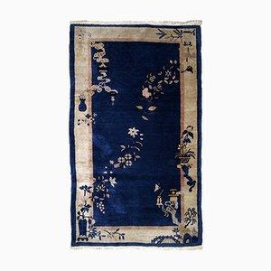 Antiker handgeknüpfter chinesischer Peking Teppich, 1900er