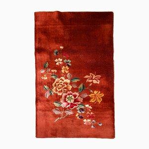 Antiker handgeknüpfter chinesischer Teppich, 1920er