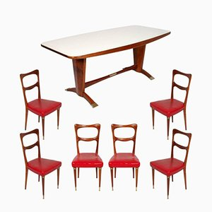 Vintage Mahogany & Burl Mahogany Dining Room Set