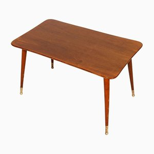 Italian Walnut Coffee Table, 1950s