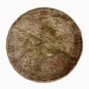 Tappeto vintage fatto a mano di seta, anni '80
