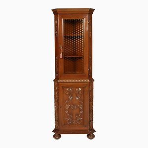 Vintage Carved Walnut Cupboard, 1940s