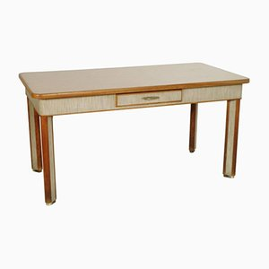 Vintage Solid Beech Dining Table, 1940s