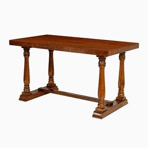 Tavolino da caffè neoclassico in legno di noce, anni '50