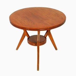 Tavolino da caffè in legno di noce e faggio, Italia, anni '50