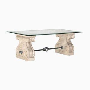 Tavolino da caffè con colonne Nanto in pietra, anni '60
