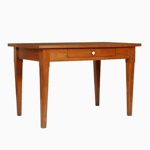 Tavolo da cucina vintage in legno di quercia massicio con ripiano in formica, anni '40
