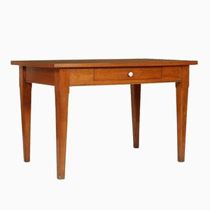 Vintage Solid Oak Kitchen Table with Formica Top, 1940s