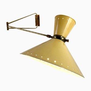 Lampada da parete grande di René Mathieu per Maison Lunel, anni '50