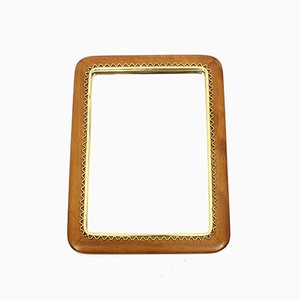 Swedish Mahogany and Brass Mirror from Svenskt Hemslöjd, 1950s