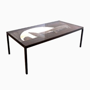 Tavolino da caffè scultoreo in ferro di John Farnham, 1964