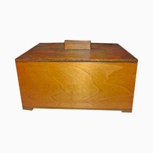 Scatola Art Nouveau in legno