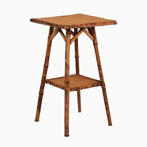 Antique Bamboo Side Table