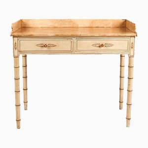 Table Console de Style Hollywood Regency en Bambou