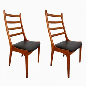 Sedie in teak di Kai Kristiansen per Korup Stolefabrik, Danimarca, anni '60, set di 2