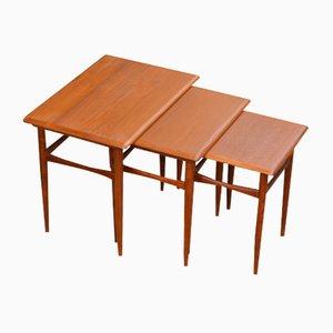 Nesting Tables by Kai Kristiansen for Skovmand & Andersen, 1960s, Set of 3