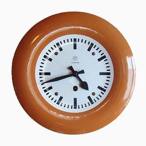 Emaillierte Vintage Uhr von Junghans